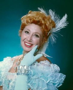 Operatic soprano Beverly Sills in costume as Sonia in The Merry Widow in 1977.
